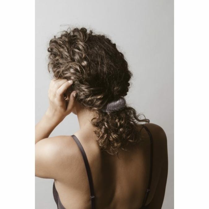füzy FUR szőrme hajgumi, szín: antracit, szürke