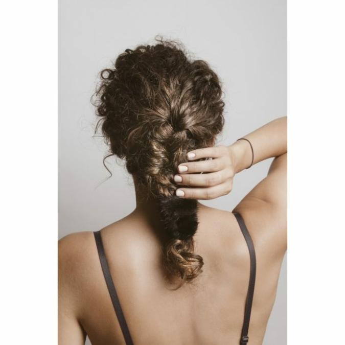 füzy FUR szőrme hajgumi, szín: black, fekete