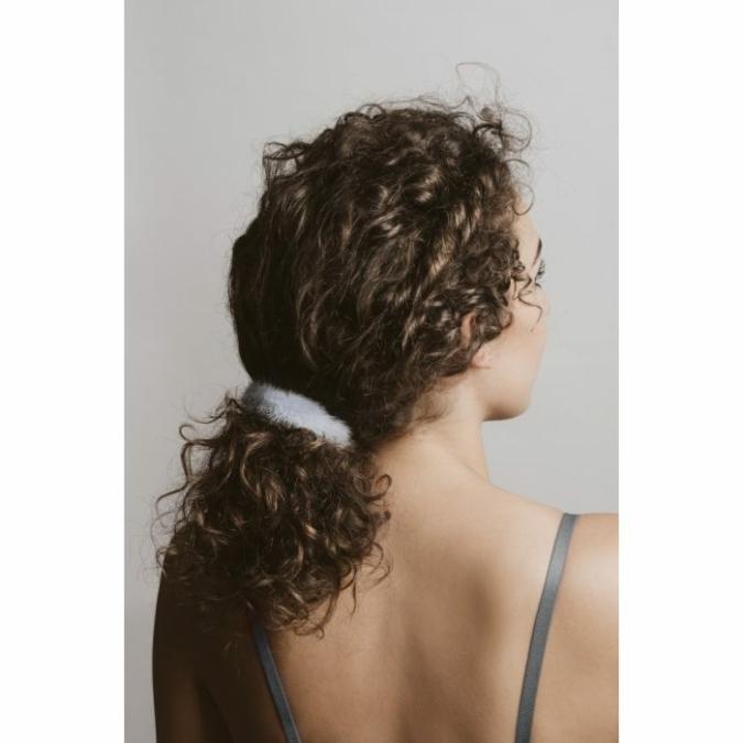 füzy FUR szőrme hajgumi, szín: blue, kék