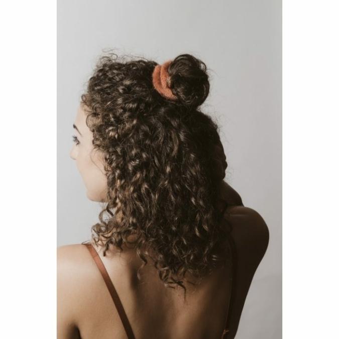 füzy FUR szőrme hajgumi, szín: rust, rozsda