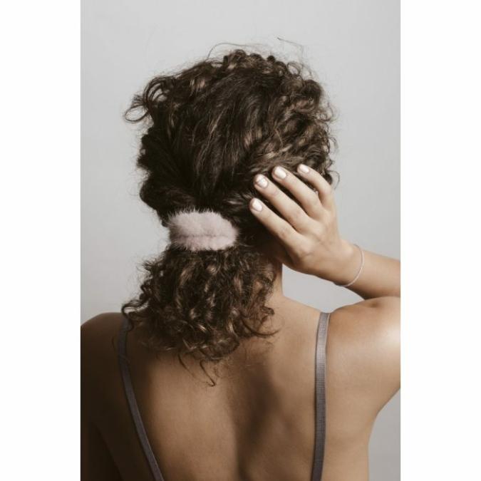 füzy FUR szőrme hajgumi, szín: pink, rózsaszín