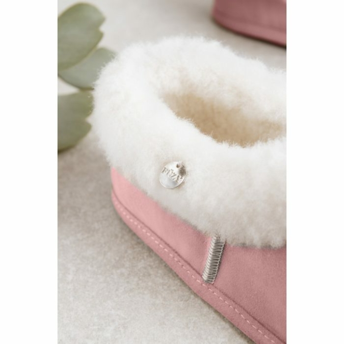 füzy FUR báránybőr mamusz, szín: pink, rózsaszín