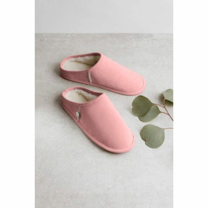 füzy FUR báránybőr papucs, szín: pink, rózsaszín