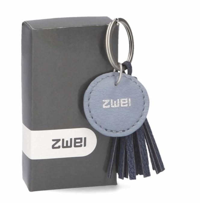 Zwei KEY kulcstartó, szín: nubuk-blue, kék