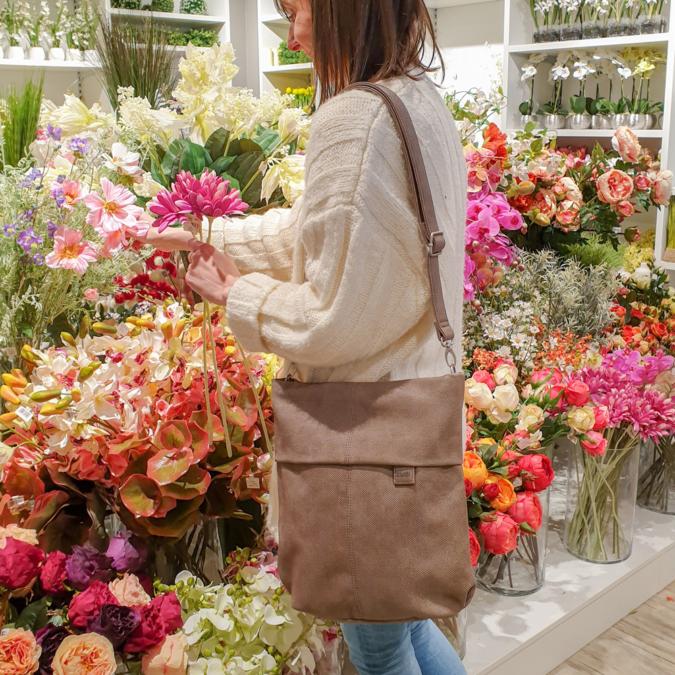 Zwei-bags Mademoiselle M. M12 oldaltáska, szín: taupe