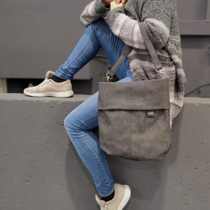 Zwei-bags Mademoiselle M. M12 oldaltáska, szín: nubuk-grey