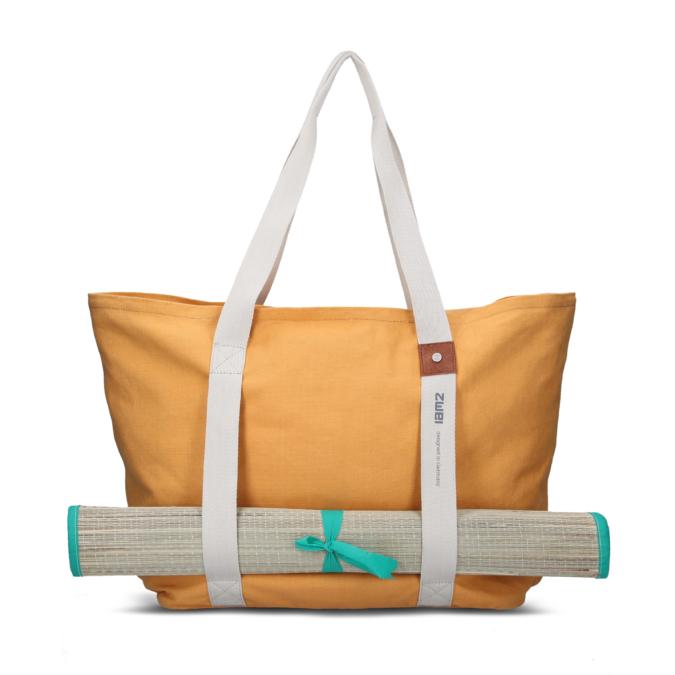 zwei-bags yoga 500 oldaltáska, szín: yellow (a matrac nem része a táskának)