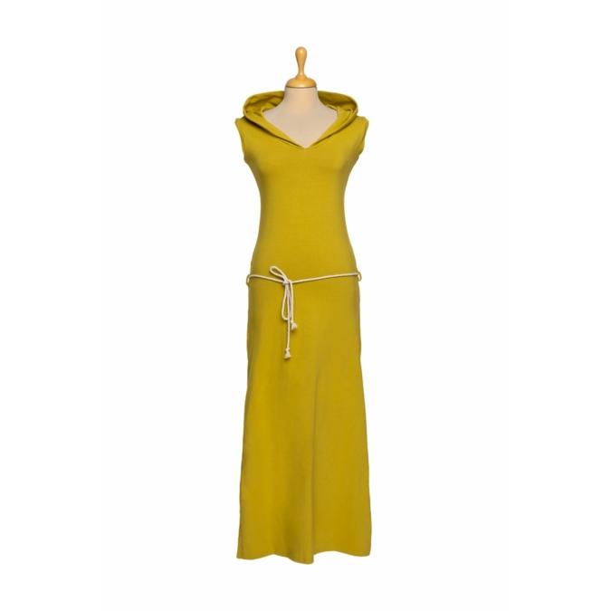 ille-olla DARI kapucnis ruha, szín: mustársárga