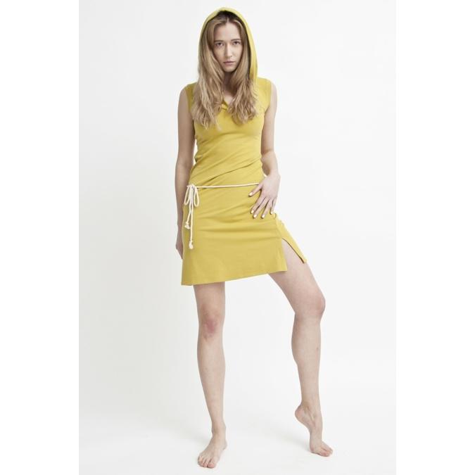 ille-olla DORI kapucnis ruha, szín: mustársárga