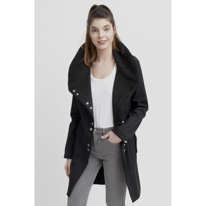 ille-olla FABIOLA kabát, szín: fekete