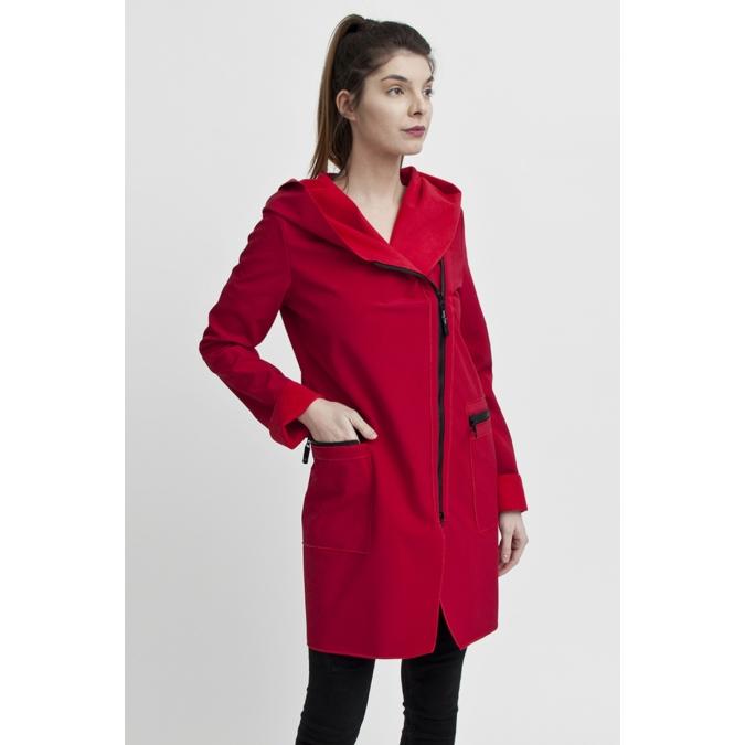 ille/olla FIODA kabát, szín: meggypiros