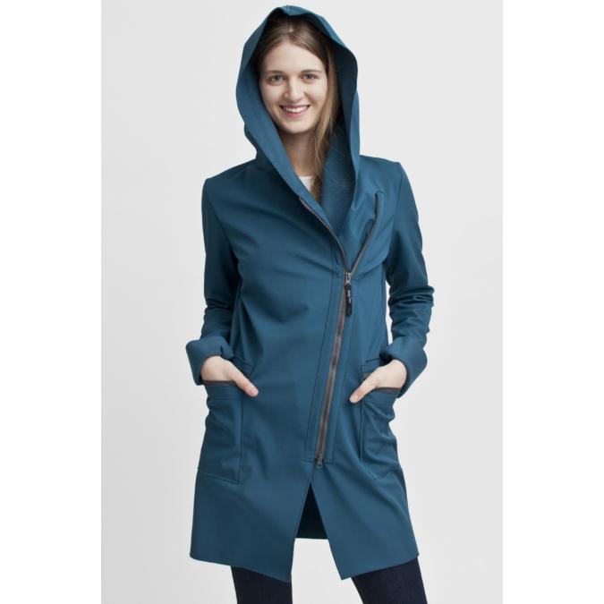 ille/olla FIODA kabát, szín: sötéttürkiz