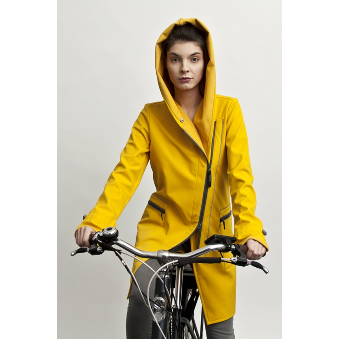 ille/olla FIODA BIKE kabát, szín: napsárga