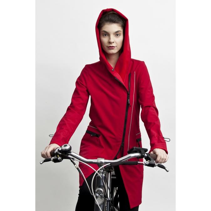 ille/olla FIODA BIKE kabát, szín: meggypiros